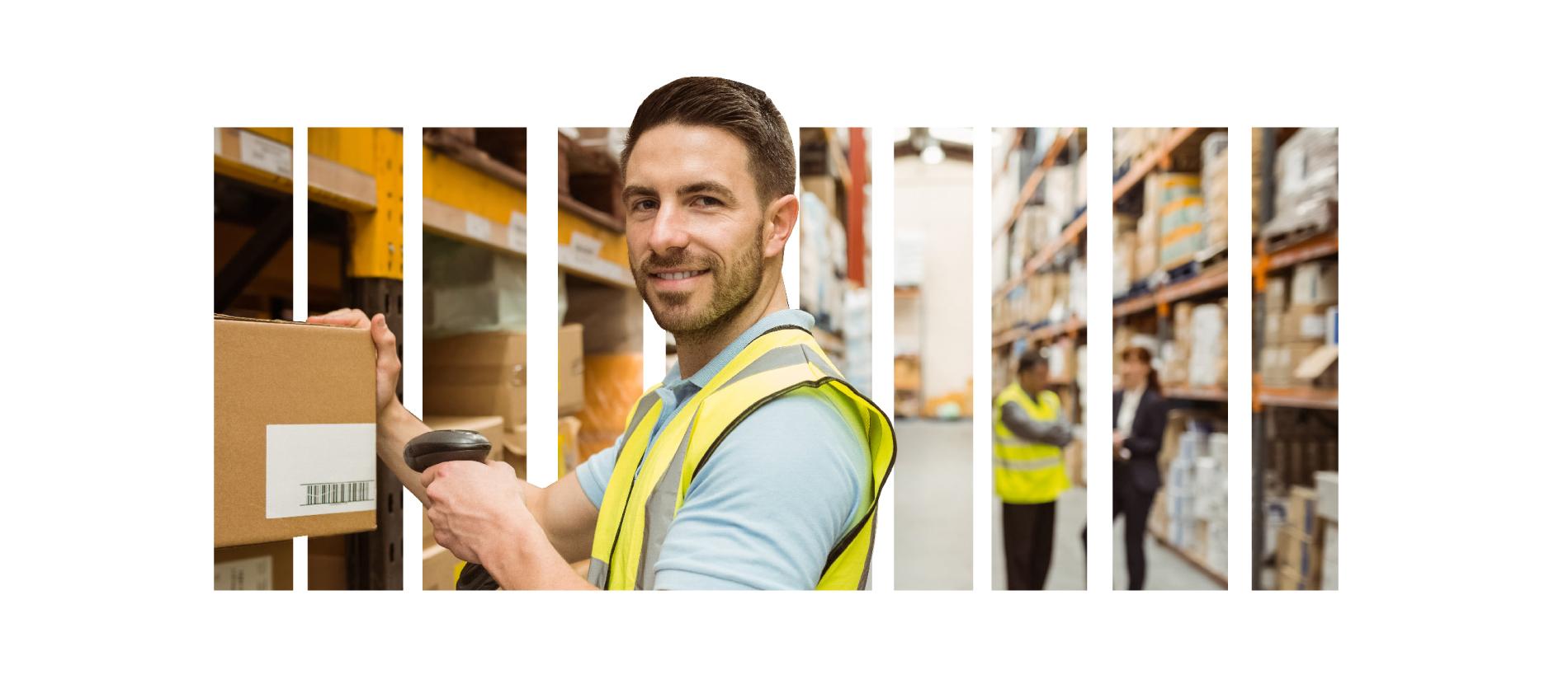 identificazione automatica per logistica di magazzino