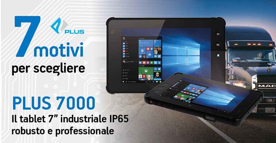 """Plus 7000 tablet 7"""" industriale IP65 robusto e professionale per i trasporti e la logistica"""