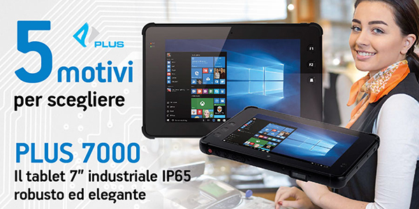 "Tablet 7"" industriale IP 65 robusto ed elegante"