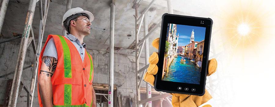 tablet Plus 7000 per i trasporti e la logistica con alta visibilità dello schermo anche sotto il sole