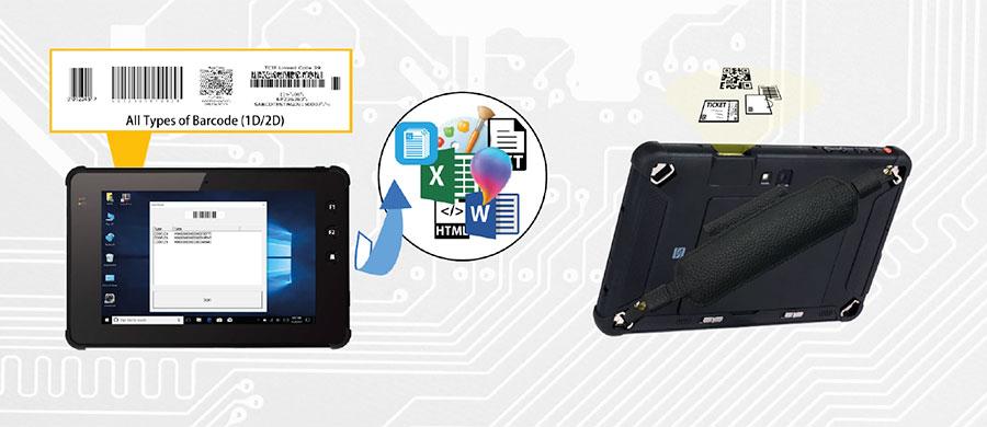 tablet rugged con lettore barcode Plus 7000 per i trasporti e la logistica