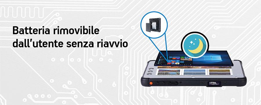 tablet rugged con batteria rimovibile Plus 7000 per il trasporti e la logistica