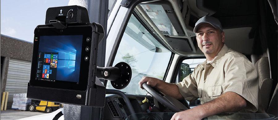 tablet Plus 7000 per i trasporti e la logistica con culla veicolare