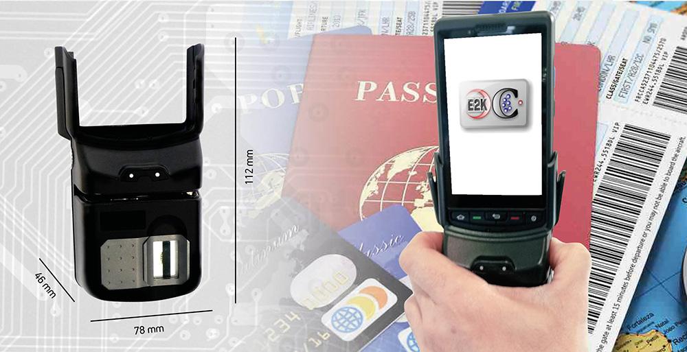 Plus10 lettore di documenti di identità collegato al terminale Plus 20000