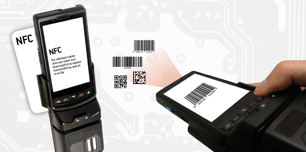Plus10 lettore auto-ID NFC Barcode