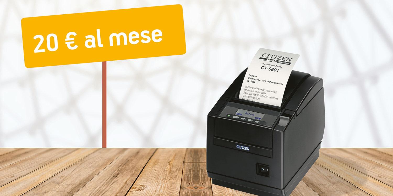 noleggio operativo stampante fiscale per gestione del punto cassa