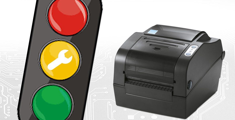 Manutenzione della stampante per etichette