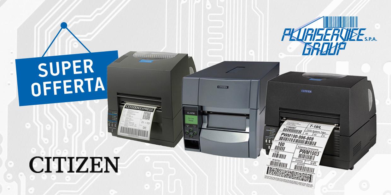 Promozione stampanti Citzen in offerta agosto 2019 Pluriservice