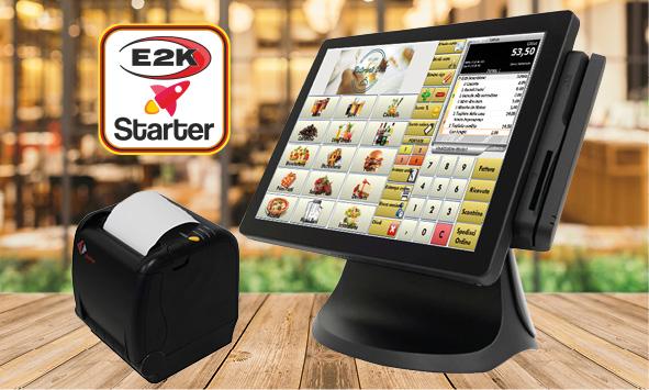 registratore di cassa telematico - configurazione E2K starter food per ristoranti, bar, pizzerie