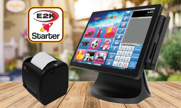 registratore di cassa telematico - configurazione E2K starter profumeria, giocattoli, tabacchi