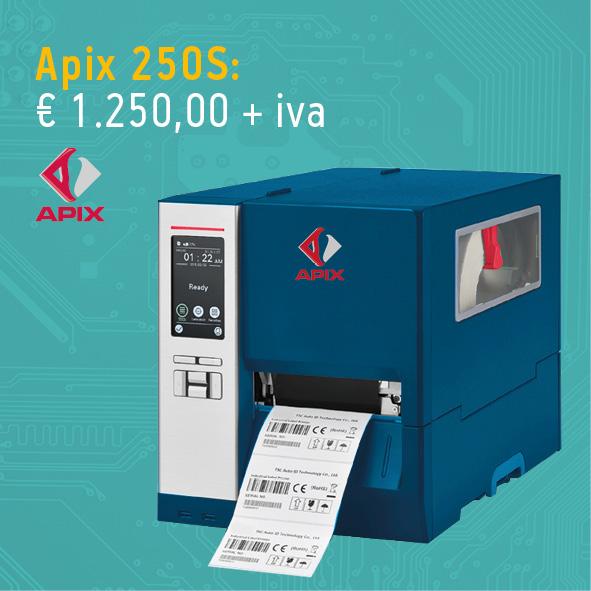 Stampante per etichette Apix - modello industriale apix 250S