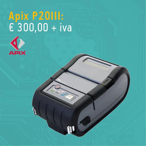 Stampante per etichette Apix P20III - stampante portatile