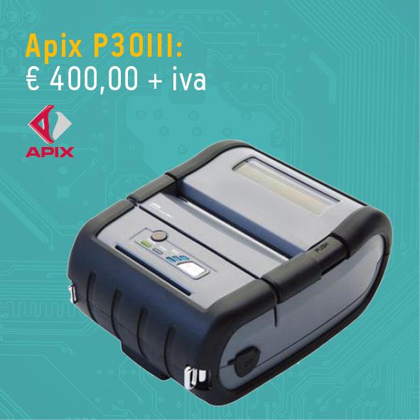 Stampante per etichette apix - Stampante portatile Apix P30II