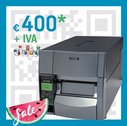 Stampante codice a barre CL-S 700 - summer sale pluriservice 2019