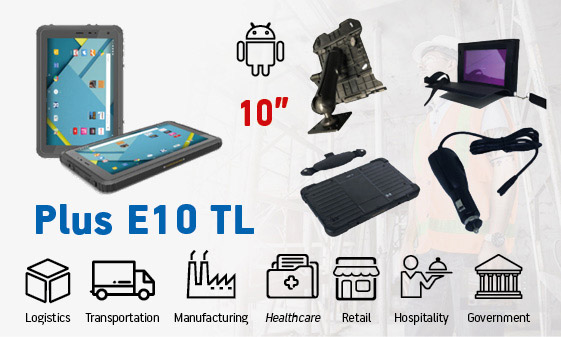 tablet industriali rugged - tablet 10 Android Plus E10 TL