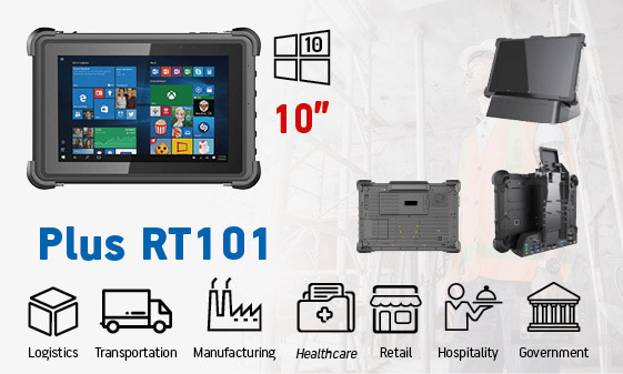 tablet industriale rugged - tablet 10 Windows Plus RT101