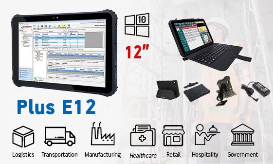 tablet industriali rugged - tablet 12 Windows Plus E12