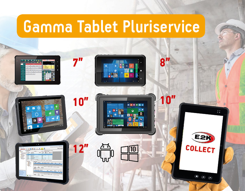 Tablet industriali rugged – la gamma Pluriservice