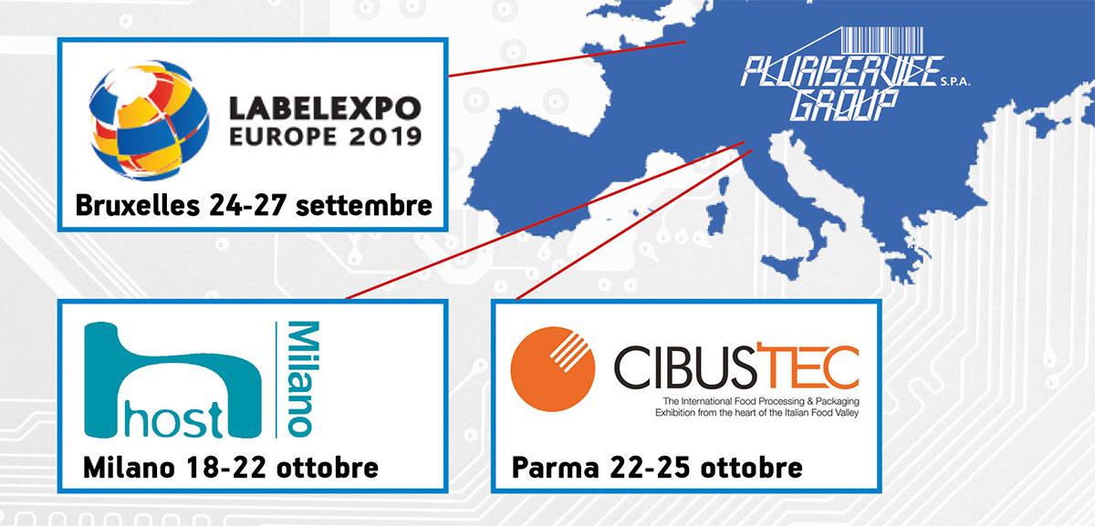 LabelExpo Bruxelles, Host Milano e Cibustec Parma - fiere Pluriservice settembre/ottobre 2019