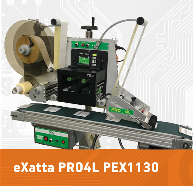 sistema di stampa e applica eXatta PRO4L PEX1130