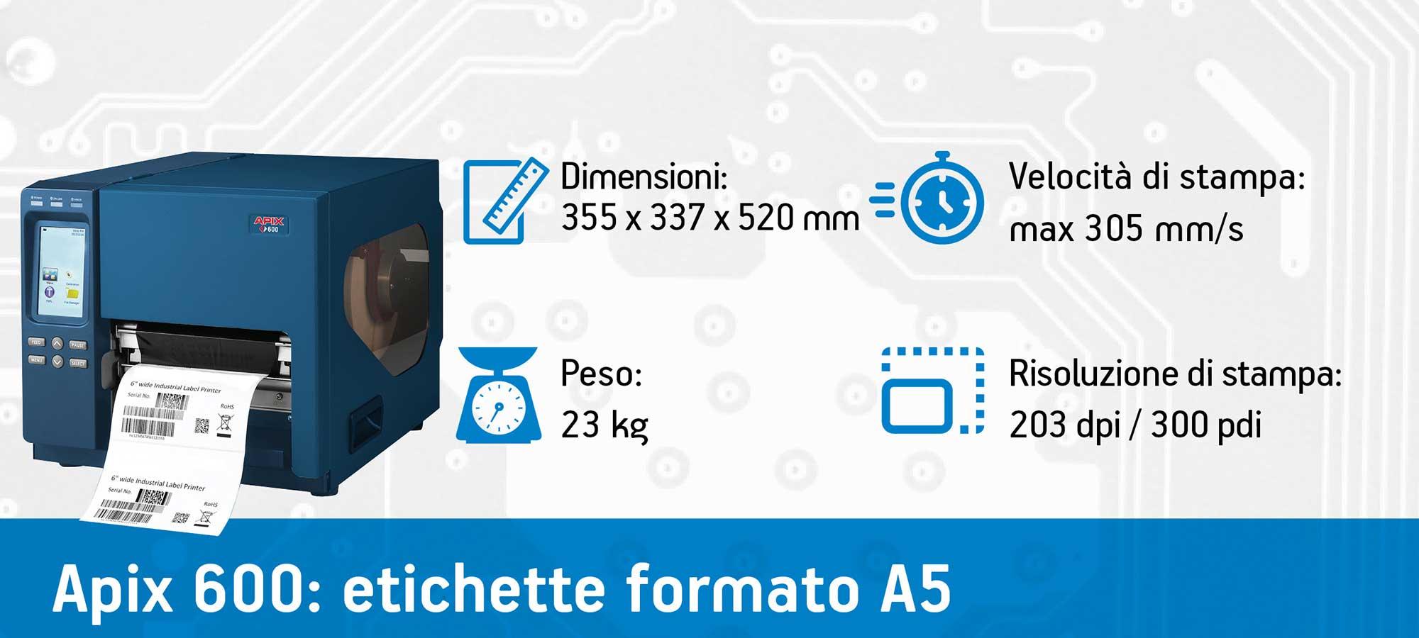 stampante etichette Apix 600
