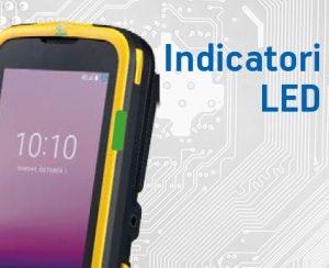 Terminale portatile android Plus 95 con indicatori LED