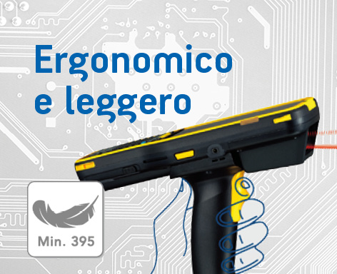 Terminale portatile android Plus 95 leggero ed ergonomico