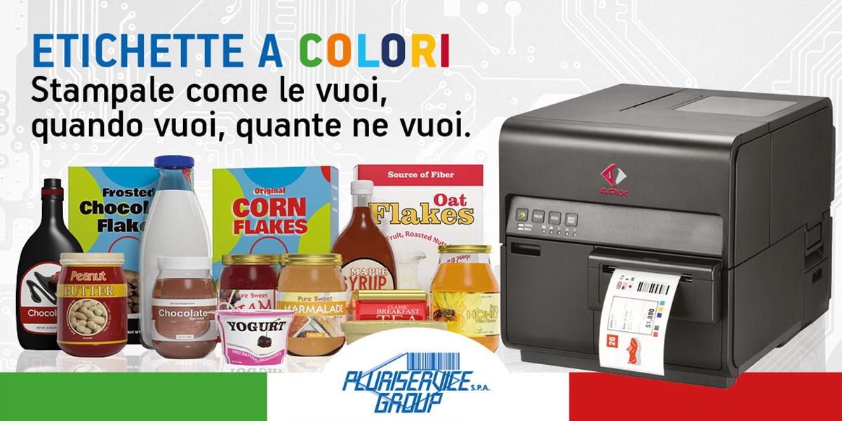 Stampanti per etichette a colori apix CPX4 in soluzione di acquisto o noleggio