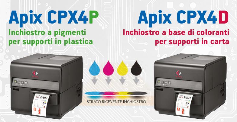 stampanti per etichette a colori Apix CPX4 in promozione