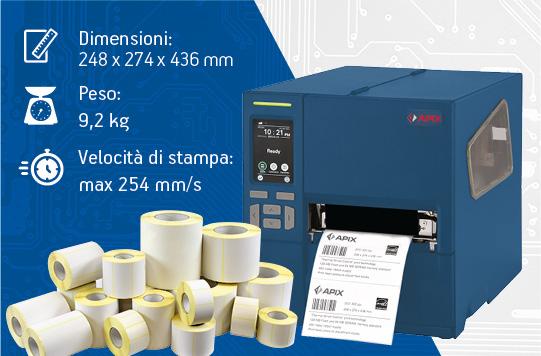 Stampanti per etichette industriali - APIX 240T in promozione