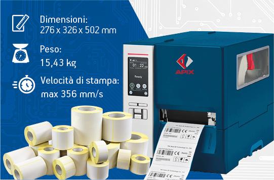 Stampanti per etichette industriali - APIX 250S in promozione