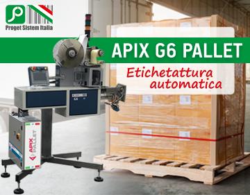 APIX G6: Etichettatura automatica pallet