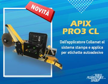APIX PRO3 CL: Dall'applicatore al sistema stampa e applica